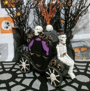 Halloween Gothic Skeleton Carriage Decor